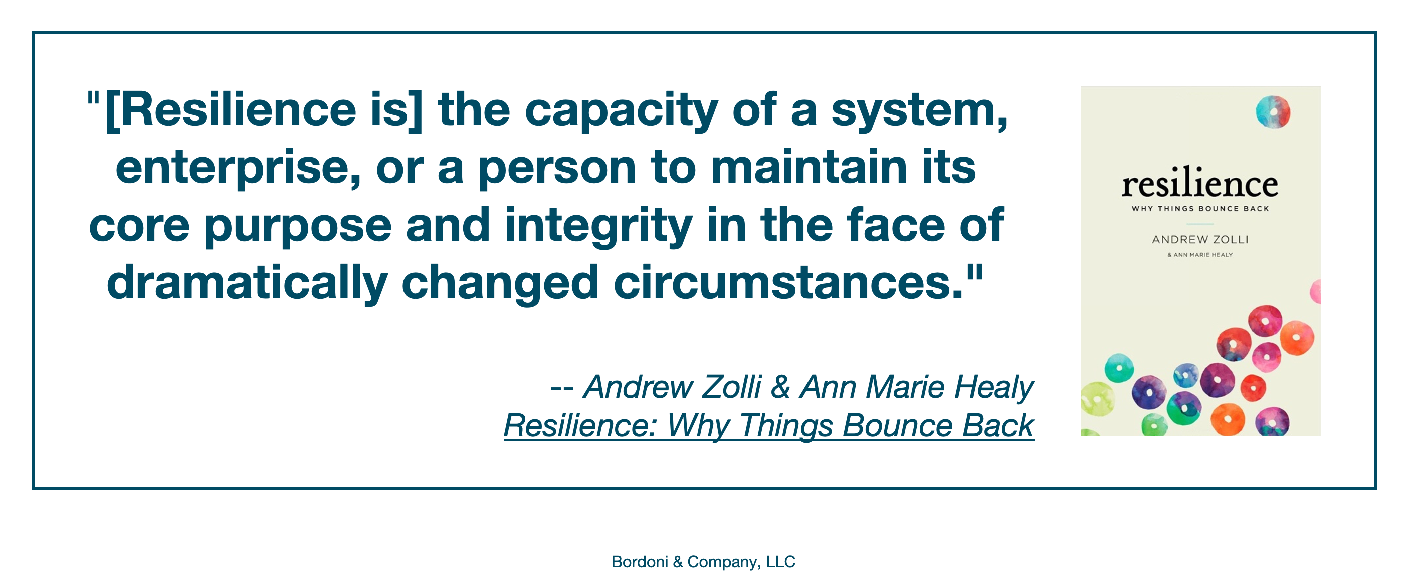 A working definition of resilience | Bordoni & Company